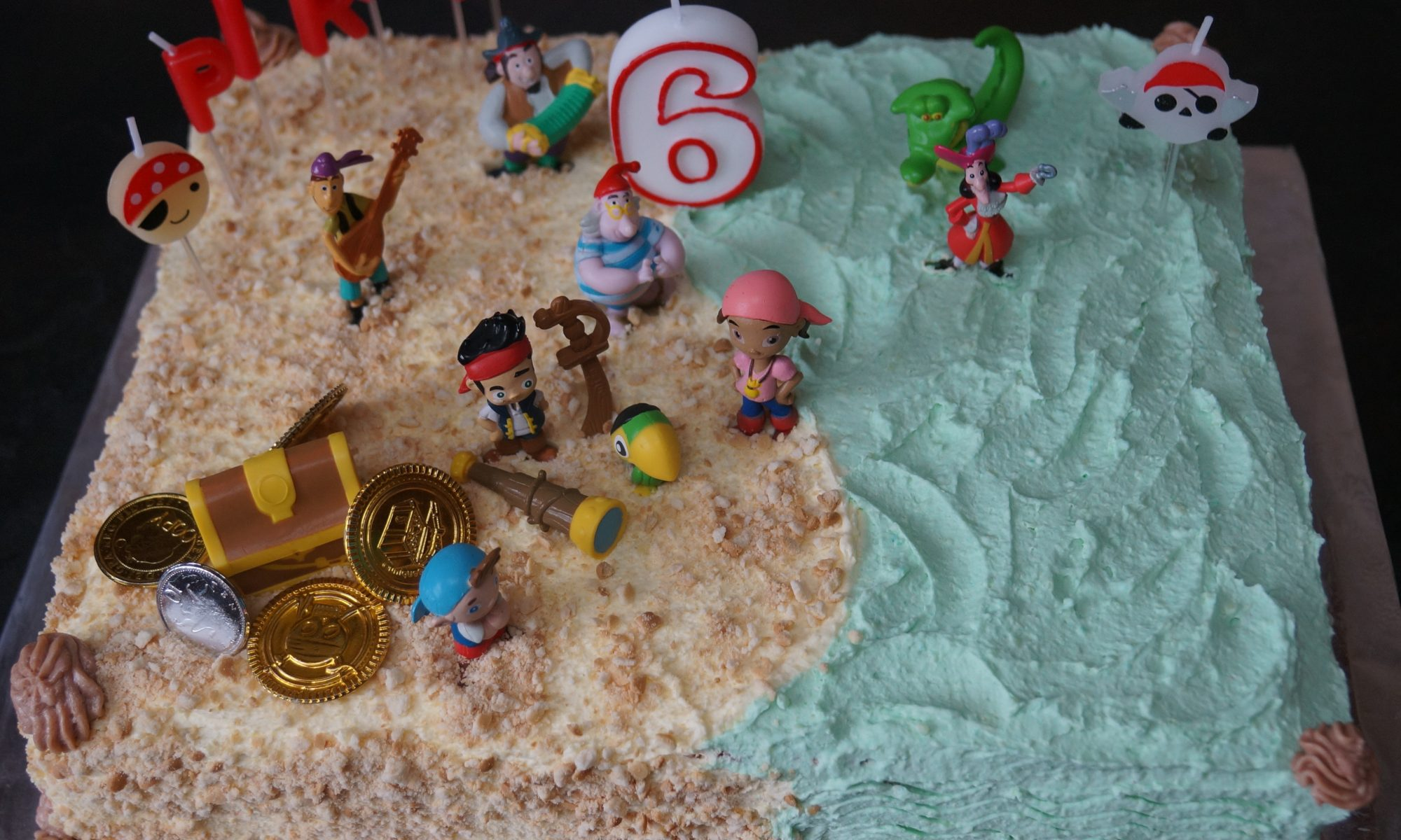Astounding Jake And The Neverland Pirates Cake Natashas Cakes Funny Birthday Cards Online Inifodamsfinfo