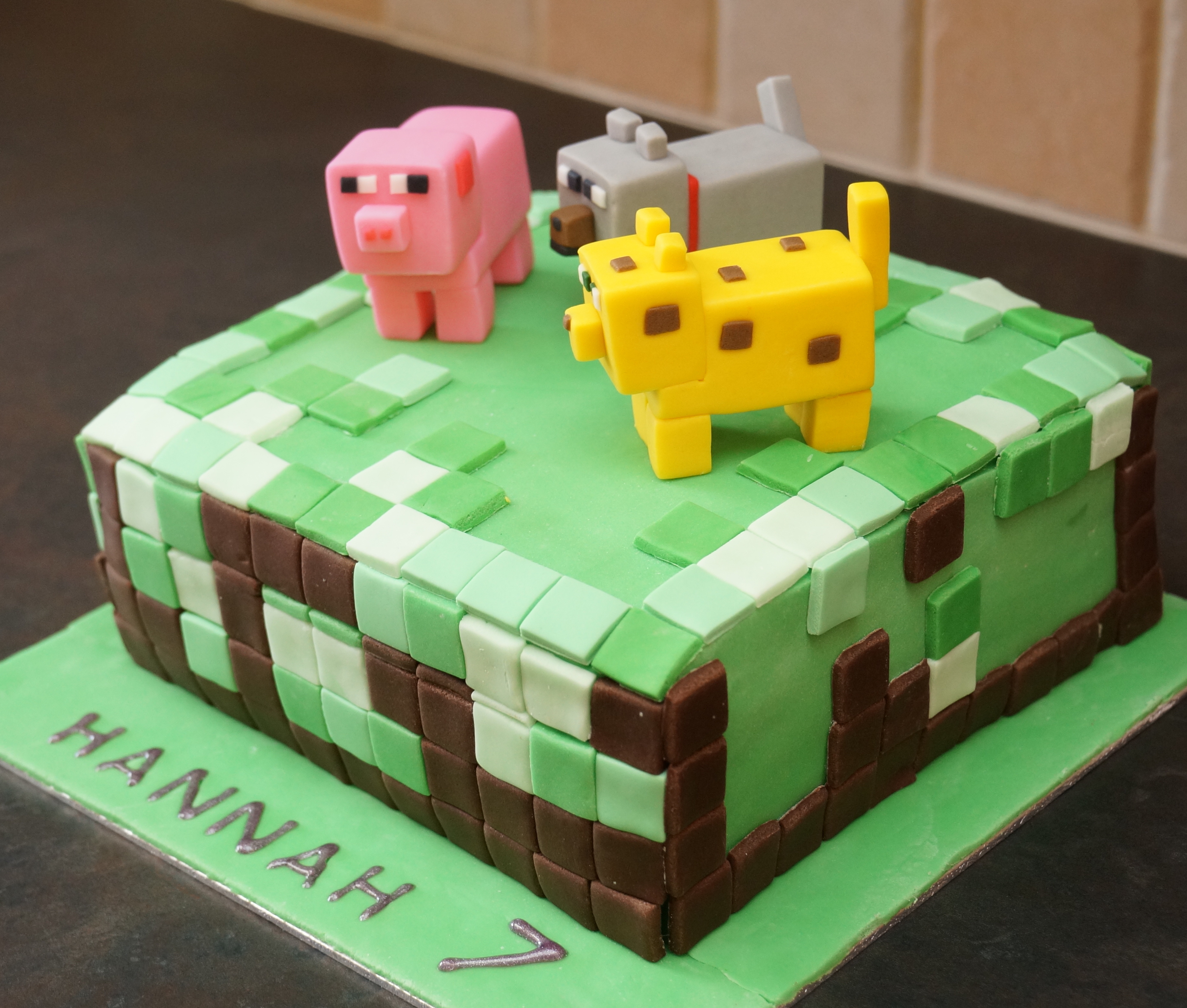 Minecraft Cake With Figures Natasha S Cakes